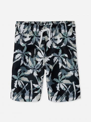מכנסי בגד ים בהדפס עלים קמופלאז' / בנים של THE CHILDREN'S PLACE
