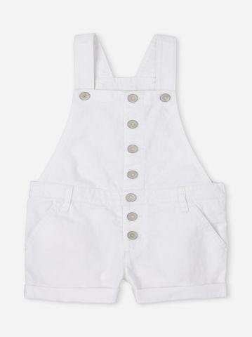 אוברול ג'ינס קצר עם כפתורים / בנות של THE CHILDREN'S PLACE