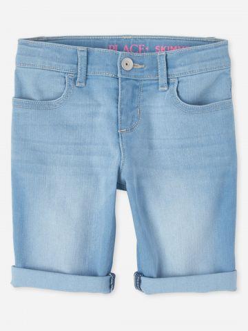 מכנסי ג'ינס קצרים בשטיפה בהירה / בנות של THE CHILDREN'S PLACE