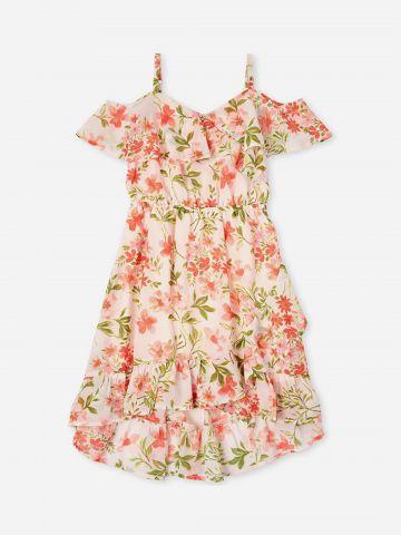 שמלת קולד שולדרס בהדפס פרחים / בנות של THE CHILDREN'S PLACE
