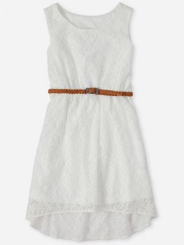 שמלת תחרה בשילוב חגורה / בנות של THE CHILDREN'S PLACE