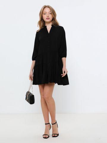 שמלת מיני קומות מכופתרת של YANGA