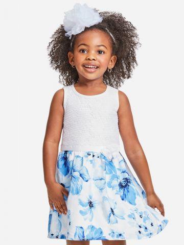 שמלת פרחים עם עיטורי תחרה / 9M-4Y של THE CHILDREN'S PLACE