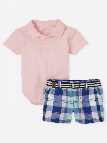 סט אוברול ומכנסיים קצרים / 0-18M של THE CHILDREN'S PLACE