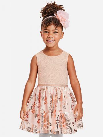 שמלת נצנצים עם טול ופרחים / 9M-4Y של THE CHILDREN'S PLACE