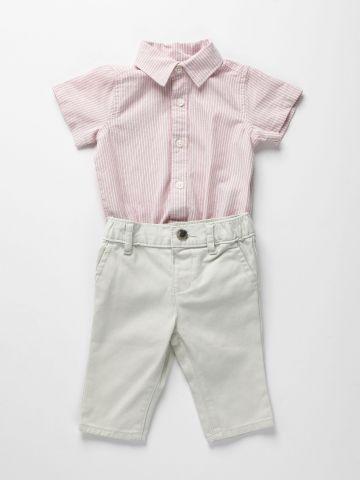 סט אוברול ומכנסיים ארוכים / 0-18M של THE CHILDREN'S PLACE