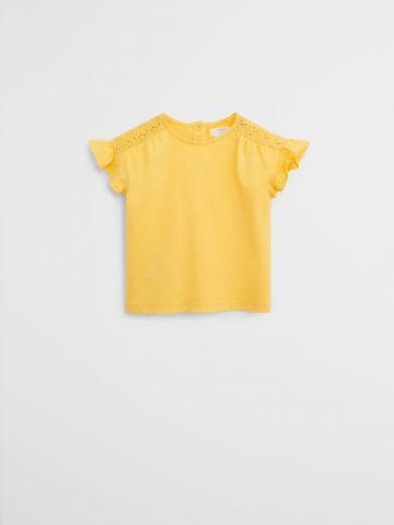 חולצה עם עיטורי מלמלה וחירורים \ 9M-4Y של MANGO