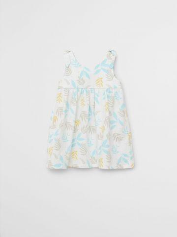 שמלה בהדפס עלים / 9M-4Y של MANGO