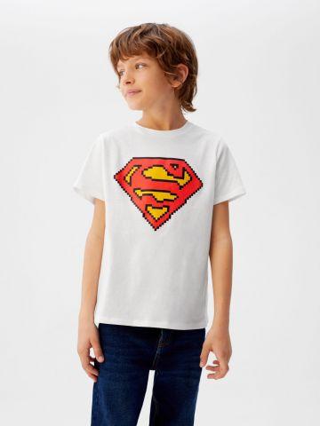 טי שירט עם הדפס סופרמן של MANGO