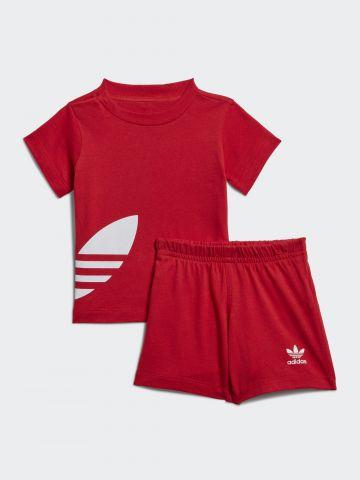 סט חולצה ומכנסיים עם הדפס לוגו / 3M-4Y של ADIDAS Originals