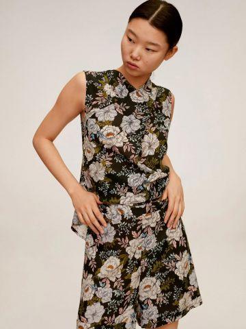 מכנסיים קצרים בהדפס פרחים של MANGO
