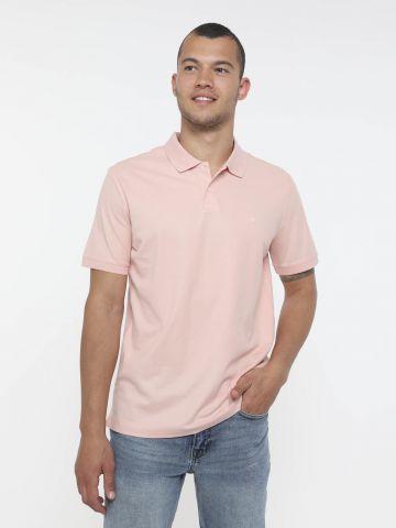חולצת פולו Slim עם רקמת לוגו של CALVIN KLEIN
