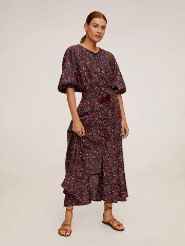חצאית מכופתרת בהדפס פרחים של MANGO