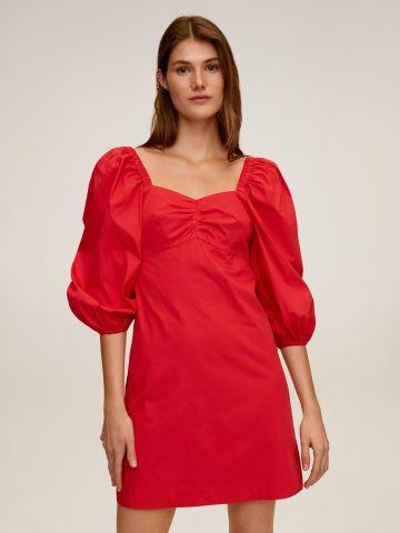 שמלת מיני אוף שולדר שרוולים נפוחים של MANGO