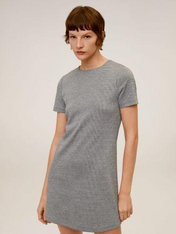 שמלת טי שירט בהדפס פסים של MANGO