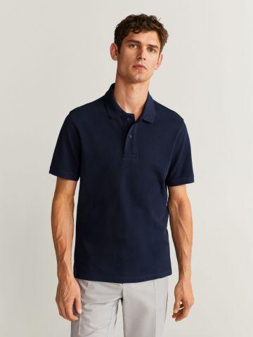 חולצת פולו עם כפתורים Slim של MANGO