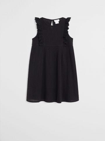 שמלה מתרחבת בשילוב מלמלה / בנות של MANGO