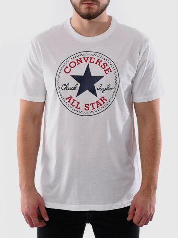 טי שירט עם הדפס לוגו של CONVERSE