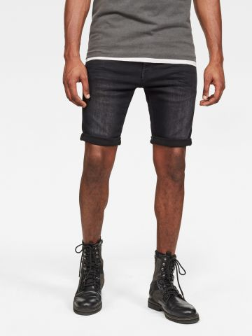 מכנסי ג'ינס קצרים בשטיפה כהה Slim של G-STAR