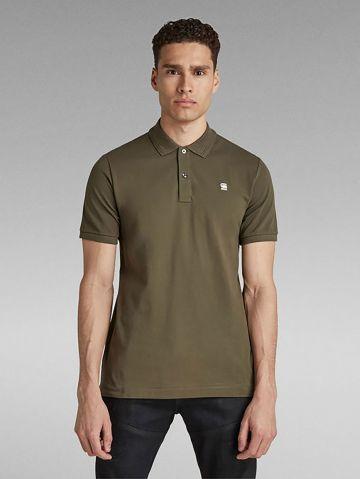 חולצת פולו עם רקמת לוגו Slim של G-STAR