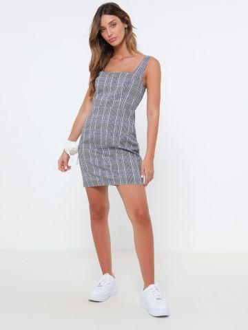 שמלת מיני בהדפס משבצות של TERMINAL X