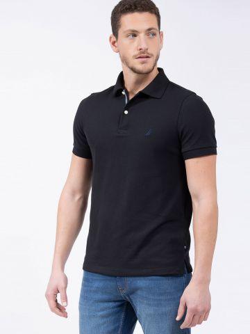 חולצת פולו עם רקמת לוגו Slim של NAUTICA
