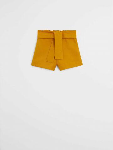 מכנסיים קצרים עם קשירה / 9M-4Y של MANGO