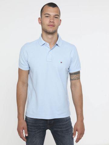 חולצת פולו עם לוגו Slim של TOMMY HILFIGER