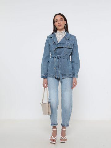 ג'קט ג'ינס עם חגורה של YANGA