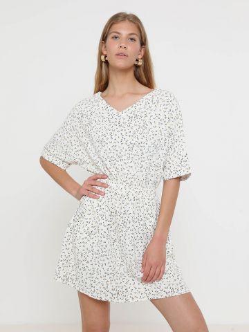 שמלת מיני נקודות עם גומי מותן של YANGA