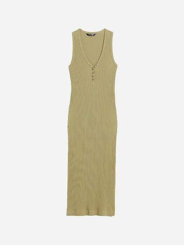 שמלת מידי ריב של BANANA REPUBLIC