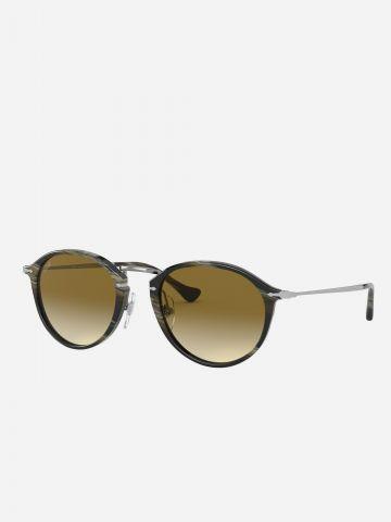 משקפי שמש עגולים עם עדשת אומברה של PERSOL