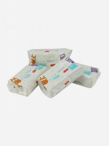 מארז 4 חבילות מגבוני בד לתינוק של SHILAV