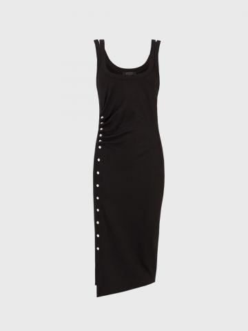 שמלת מידי עם כיווצים וכפתורים מטאליים / נשים של ALL SAINTS