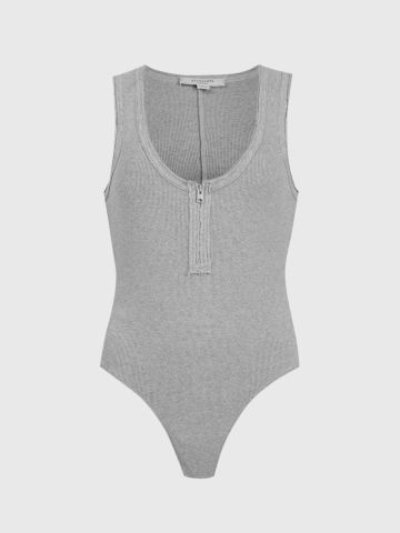 בגד גוף ריב עם רוכסן / נשים של ALL SAINTS