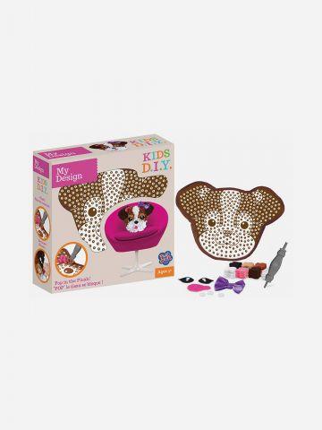 Plush Craft מוזאיקת כרית בד כלב / 5+ של TOYS