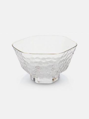 ליפתניית זכוכית עם עיטור מוזהב Delicate של FOX HOME