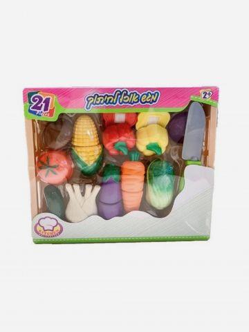 ערכת ירקות חתוכים במגש 21 חלקים / +2 של TOYS