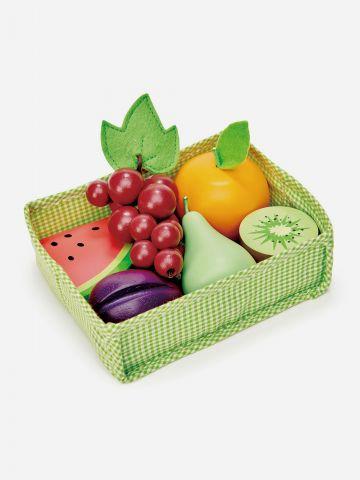 סלסלת משחק 7 חלקים מעץ / פירות Tender leaf toys +3 של TOYS