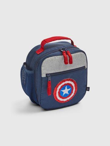 תיק אוכל בשילוב פייטים מתחלפים בדוגמת Avengers / בנים של GAP