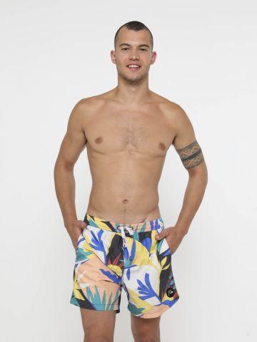 מכנסי בגד ים בהדפס פרחים של QUIKSILVER