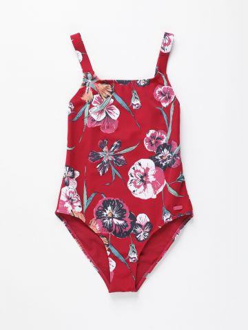 בגד ים שלם בהדפס פרחים / בנות של ROXY