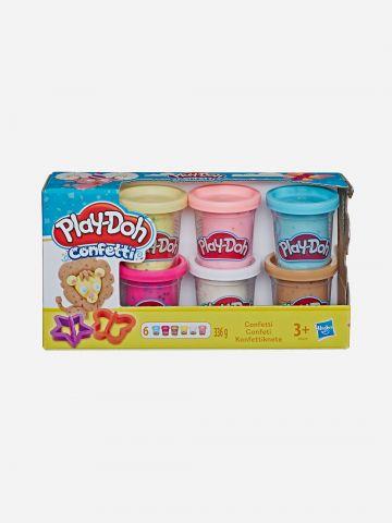 פלסטלינה play-doh אוסף קונפטי 6 יחידות / 3+ של TOYS
