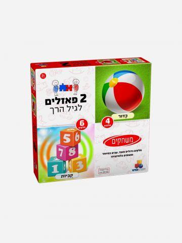 2 פאזלים בקופסה - משחקים 4,6 חלקים / 2+ של TOYS