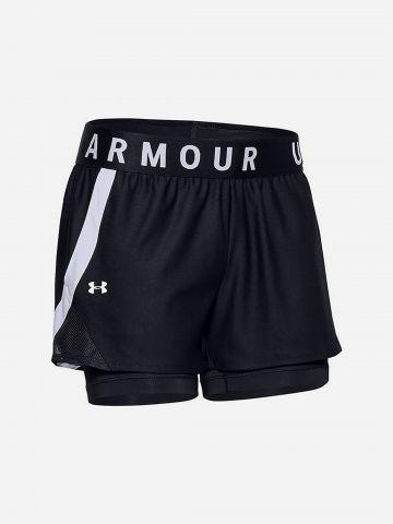 מכנסי ספורט קצרים עם טייץ פנימי / נשים של UNDER ARMOUR