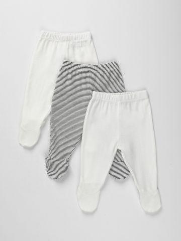 מארז 3 מכנסיים עם רגליות / N.B-6M של TERMINAL X KIDS