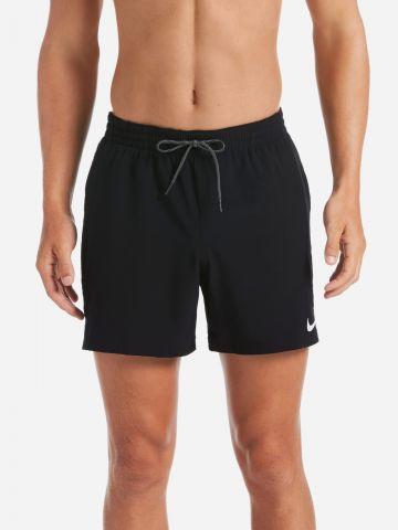 מכנסי בגד ים קצרים עם סטריפים לוגו של NIKE