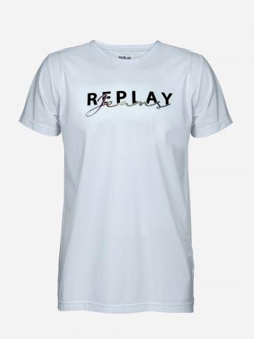 טי שירט עם לוגו / גברים של REPLAY