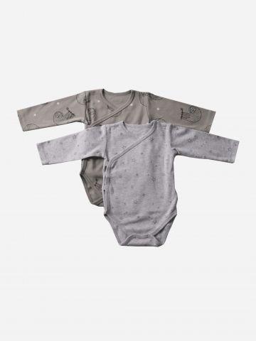 מארז 2 בגדי גוף בהדפסי איורים / N.B-3M של MINENE