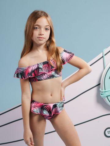 בגד ים ביקיני טרופי עם מלמלה / בנות של MINENE